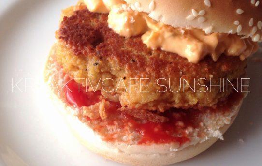 Ziegenkäse Couscous Bratling | vegetarische Burgeralternative